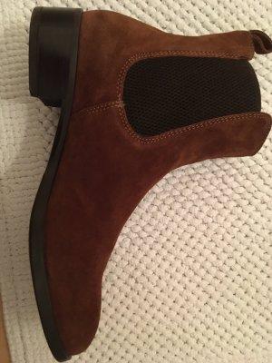 Unisa Slip-on Booties brown-dark brown leather