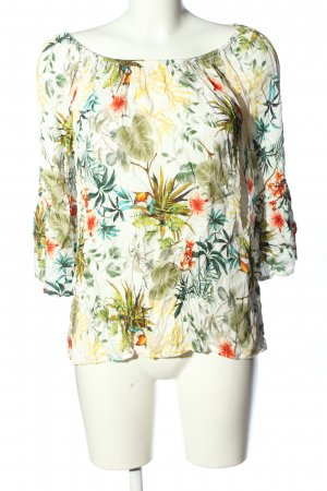 Chelsea Rose NYC Carmen Blouse flower pattern casual look