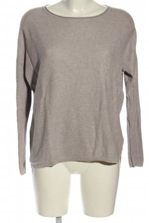 Chelsea Rose NYC Crewneck Sweater light grey flecked casual look