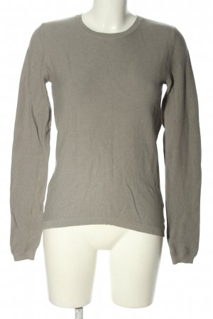 Chelsea Rose NYC Crewneck Sweater light grey cable stitch casual look