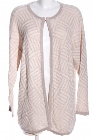Chelsea Rose NYC Strick Cardigan wollweiß-braun Allover-Druck Casual-Look