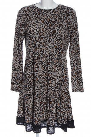Chelsea Rose NYC Knitted Dress leopard pattern casual look