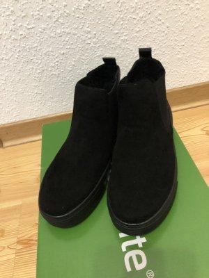 Remonte Wysokie trampki czarny-ciemnoniebieski