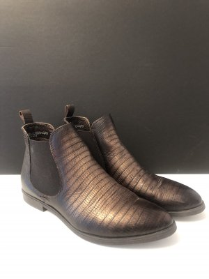 5 th Avenue Chelsea Boots bronze-colored-dark brown leather