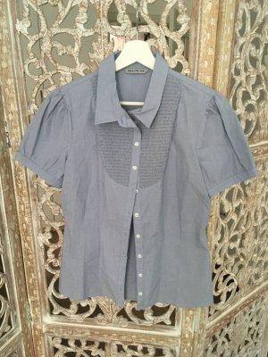 Pennyblack Camicia a maniche corte bianco-azzurro Cotone
