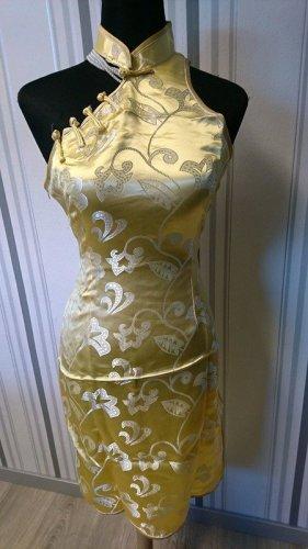 Qipao yellow mixture fibre