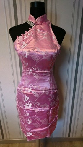 Qipao light pink-pink mixture fibre