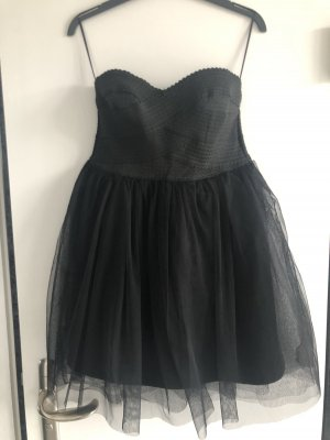 Cherry Koko Bustierkleid in schwarz