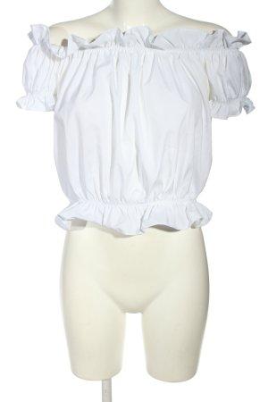 Cherry Koko Blusa alla Carmen bianco stile casual