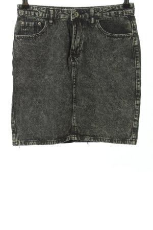 Cherry Koko Gonna di jeans nero puntinato stile casual