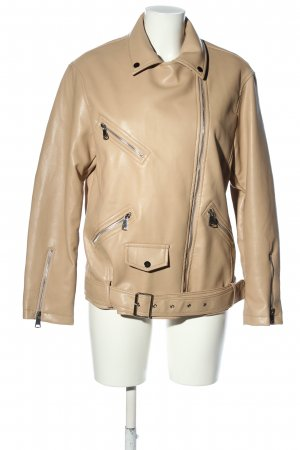 Cherry Koko Faux Leather Jacket cream casual look