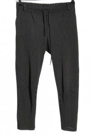 Cherry Koko Stoffen broek zwart-wit gestreept patroon casual uitstraling