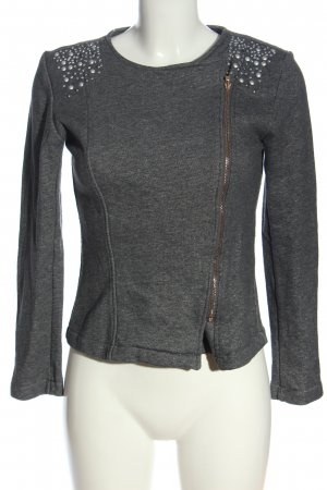Cherry Koko Sweat Jacket light grey flecked casual look