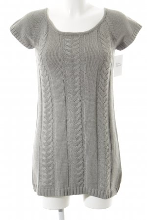 Cherry Knitted Dress grey cable stitch casual look