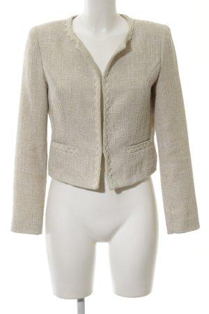 Cherry Tweed Blazer cream weave pattern business style