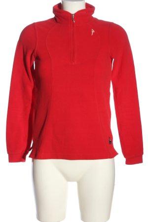 Chervo Polarowy sweter czerwony W stylu casual