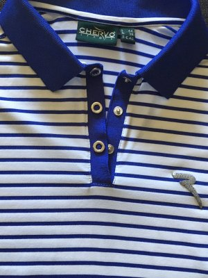 Chervo Polo Shirt white-cornflower blue