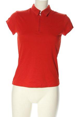Chervo Koszulka polo czerwony W stylu casual