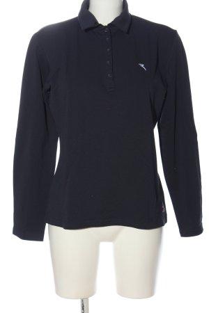 Chervo Camiseta tipo polo azul look casual