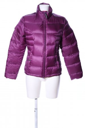 Chervo Quilted Jacket lilac embroidered lettering casual look