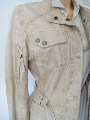 Chevirex Leather Jacket oatmeal-camel leather