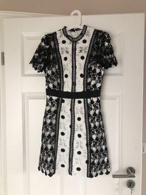 Chi Chi London A Line Dress white-black