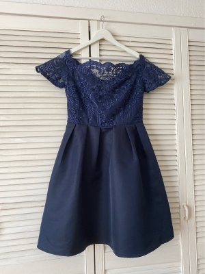 Chi Chi London Balloon Dress dark blue