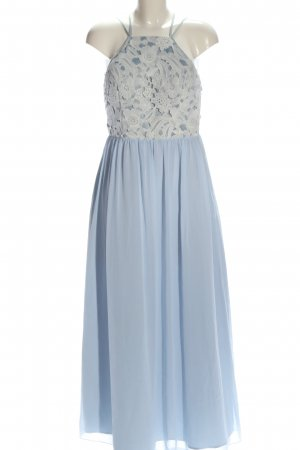Chi Chi London Abendkleid blau-weiß Elegant