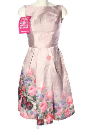 Chi Chi London Evening Dress flower pattern wet-look