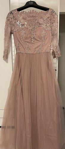 Chi Chi London Evening Dress rose-gold-coloured-dusky pink