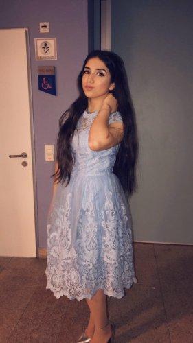 Chi Chi London Suknia balowa baby blue-błękitny