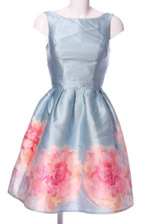 Chi Chi London Ballkleid blau-pink Blumenmuster Elegant
