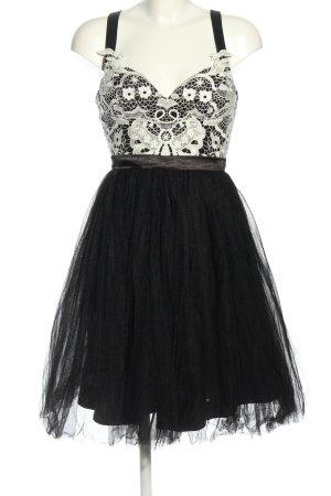 Chi Chi London Sukienka koktajlowa czarny-biały Imprezowy wygląd