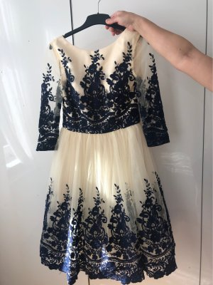 Chi Chi London Ball Dress cream-dark blue