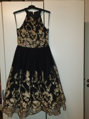 Chi Chi London Evening Dress black-gold-colored