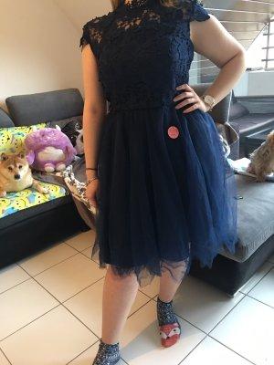 Chi Chi London Midi Dress dark blue-blue