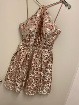 Chi Chi London Mini Dress rose-gold-coloured-gold-colored