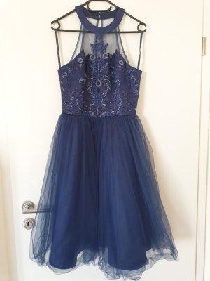 Chi Chi London Kleid Blau 36 Abendkleid Abschlussball Cocktailkleid Hochzeitskleid Brautjungfern
