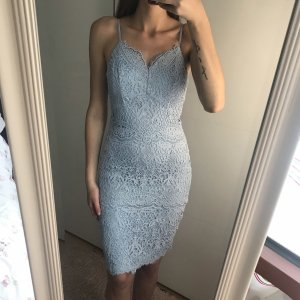 Chi Chi London Lace Dress light blue-azure