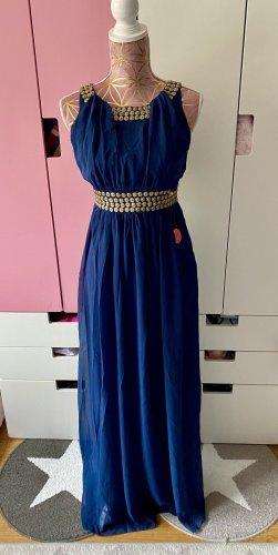 Chi Chi London Kleid dunkelblau gold Größe 38/M