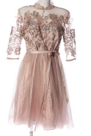 Chi Chi London Sukienka z krótkim rękawem kremowy Błyszczący