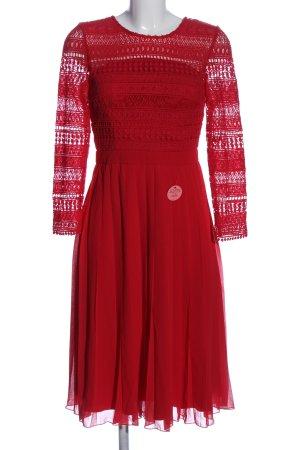 Chi Chi London Sukienka z długim rękawem czerwony Siateczkowy wzór