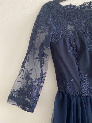 Chi Chi London Suknia balowa niebieski-ciemnoniebieski Poliamid