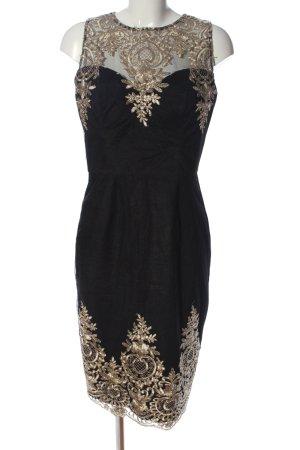 Chi Chi London Sukienka midi czarny-różowy Wzór w kwiaty W stylu casual