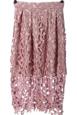Chi Chi London Midirock pink abstraktes Muster Elegant