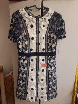 Chi Chi London Lace Dress white-dark blue