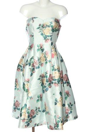 Chi Chi London schulterfreies Kleid Allover-Druck Elegant