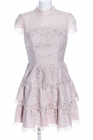Chi Chi London Lace Dress natural white flower pattern elegant