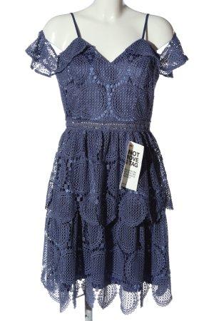 Chi Chi London Lace Dress blue elegant