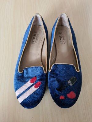 Chiara Ferragni Ballerines royalblau Gr.36 sehr ausgefallen. Zustand: Gebraucht nur selten getragen
